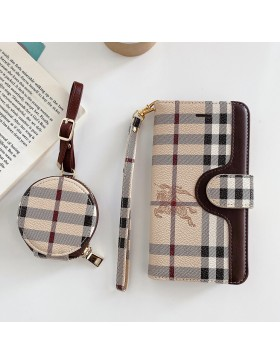 Burberry iPhone XR 11 12 Wallet Case AirPods Bag