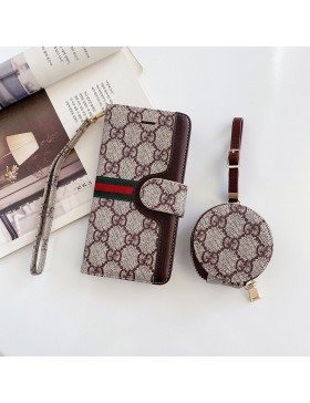 Gucci iPhone XR 11 12 Wallet Case + AirPods Bag