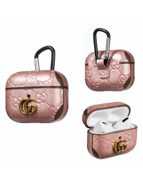 Gucci AirPods & 2 & Pro Case Embossing Skin Protective Cover Pink