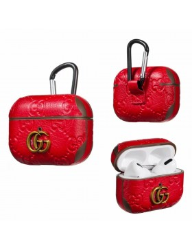 Gucci AirPods & 2 & Pro Case Embossing Skin Protective Cover Red