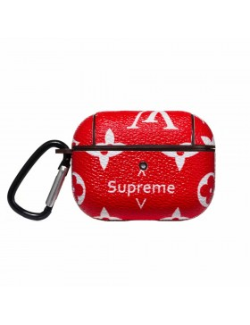 Louis Vuitton X Supreme AirPods Pro Case Skin Charging Protective Cover Red