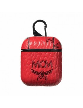 MCM AirPods & 2 Case Cover Red