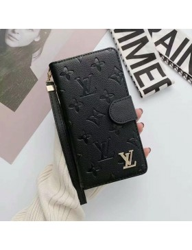 Louis Vuitton Universal Phone Wallet Case Black Within 6.7 inch