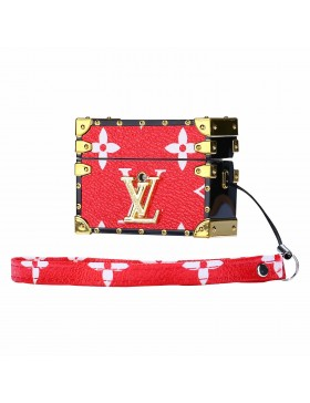 LV AirPods Pro & AirPods Case Petite Malle Box Protective Cover Red