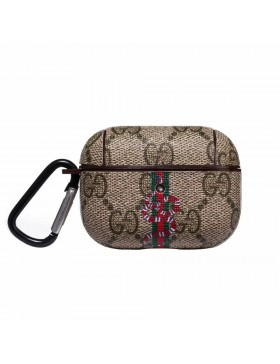 Gucci AirPods Pro Case Protective Cover Ribbons Snake Brown