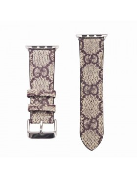 Gucci Apple Watch Band iWatch Strap Classic Brown