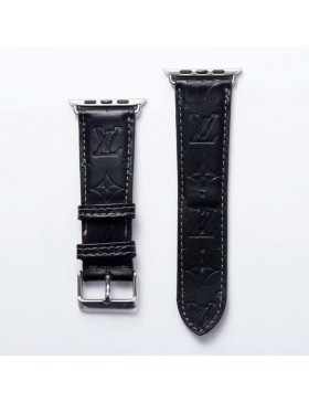 LV Apple Watch Band iWatch Strap Embossing Black