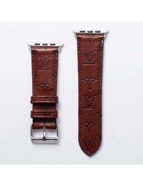 LV Apple Watch Band iWatch Strap Embossing Brown