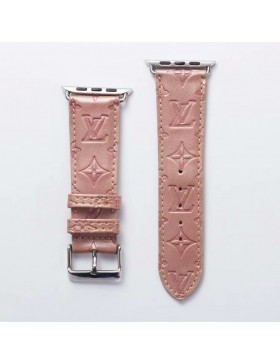 LV Apple Watch Band iWatch Strap Embossing Pink