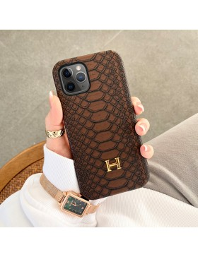Hermes iPhone Case Back Cover Brown