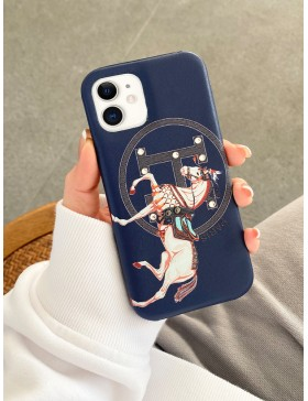Hermes iPhone Case Back Cover Navy