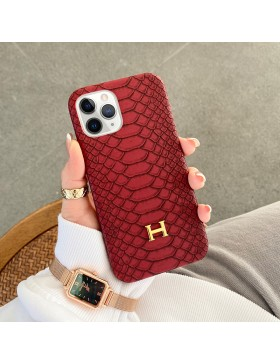 Hermes iPhone Case Back Cover Red
