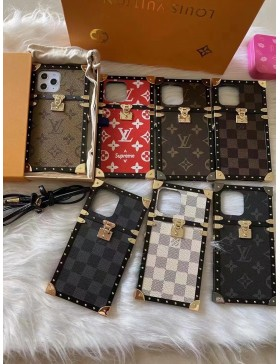 Louis Vuitton iPhone Case Eye Trunk Cover Metal 2018 Style
