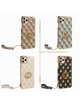 Gucci iPhone Plating GG Case Bee Skin Cover