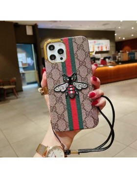 Gucci iPhone Plating Case Ribbon Bee Skin Cover