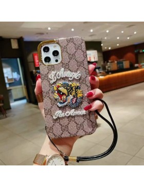 Gucci iPhone Plating Case Tiger Skin Cover