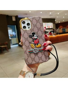 Gucci iPhone Plating Case Mickey Skin Cover