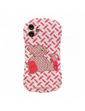 Burberry iPhone Plating Case Soft Cover Sport Car Bear Design Pink