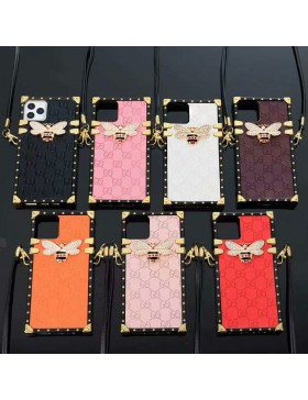 Gucci Eye Trunk iPhone Case With Strap Embossing Cover