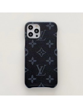 Louis Vuitton iPhone Case Three Side Protective Cover Monogram Eclipse