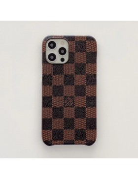 Louis Vuitton iPhone Case Three Side Protective Cover Damier Canvas