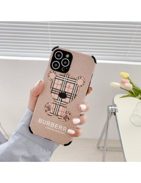 Burberry iPhone Case shockproof Cover Bear Black