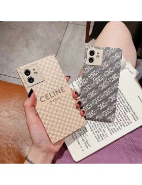 Celine iPhone XS XR 11 12 Pro Max Square Case Bear Cover