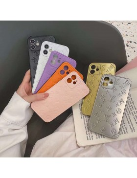 Louis Vuitton iPhone 11 12 Pro Max Case Embossed 3D Stereo