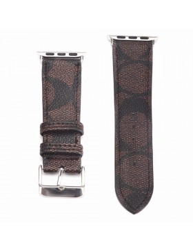 Coach Apple Watch Band Strap Coffee With Connector