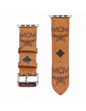 MCM Apple Watch Band Strap Tan With Connector