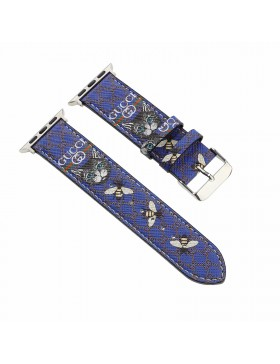 Gucci Apple Watch Band iWatch Strap Bee X Cat Blue