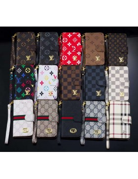 Louis Vuitton iPhone 13 Series Wallet Case Leather Stand Cover