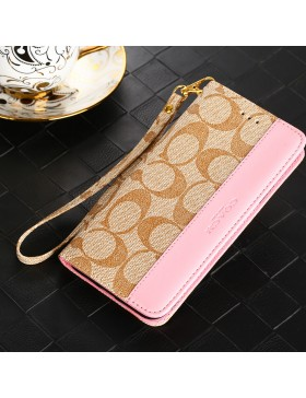 Coach iPhone Wallet Case Apricot Pink
