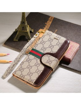 Gucci iPhone Leather Wallet Case