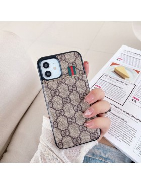 Gucci iPhone 11 12 Pro Max Case Pull Card Cover
