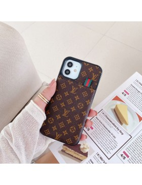 Louis Vuitton iPhone Case Pull Card Cover Monogram Brown