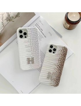 Hermes iPhone Case Himalaya White H Cover