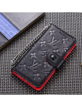 Louis Vuitton iPhone Wallet Case Red Inside With Chain