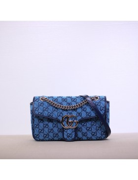 Gucci GG Marmont Small Shoulder Bag Blue