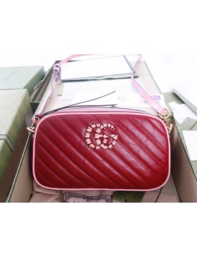 Gucci GG Marmont small shoulder Bag Red 447632