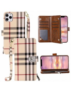 Burberry iPhone Wallet Case Crazy Horse Leather