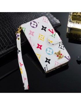 LV iPhone Wallet Case Leather Stand Cover