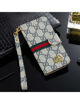 Gucci iPhone Wallet Case Stand Cover Blue