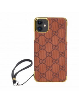Gucci iPhone Case Colorful Cover Brown