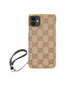 Gucci iPhone Case Colorful Cover Apricot