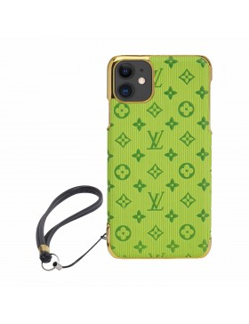 Louis Vuitton iPhone Case Colorful Cover Green Bud