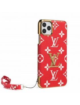 LV iPhone Case Plating Back Cover Red