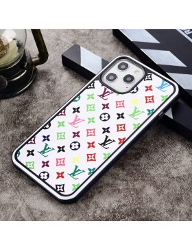 Louis Vuitton iPhone Case Hard Shell Cover Small Multicolor White