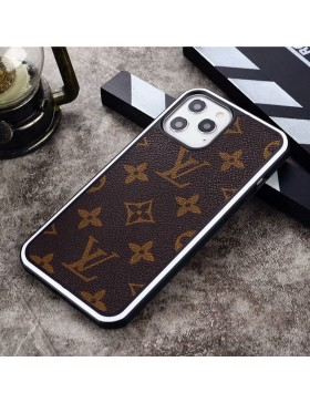 Louis Vuitton iPhone Case Hard Shell Cover Monogram Canvas White Round