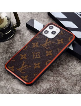 Louis Vuitton iPhone Case Hard Shell Cover Monogram Canvas Red Round